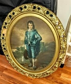 Antique picture in gold frame