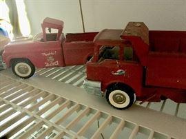 Antique vintage toy trucks