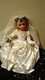 Very good condition vintage Madame Alexander bride doll, comes in original box. A must see!