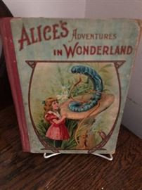 1910 edition of Alice's Aventures in Wonderland Book.