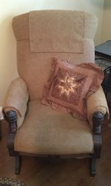 Grandmom's Antique Rocking chair.  Looks great.