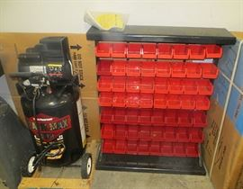 NEW Air compressor & One of Several Parts Bin Systems