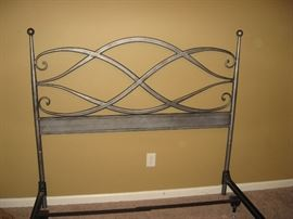 Really Nice Queen Iron Headboard/Footboard & Frame...