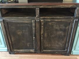 Distressed Wood Media Chest...