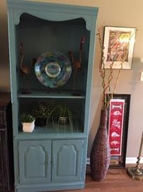 Two Lighted Side Cabinets/Bookcases, Lots of Really Nice Décor...