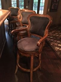 Swival bar height arm chairs - set of 4 $100