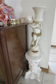 Italian Cherub and Pedestal