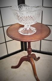Columbia Side Table & Shannon Crystal