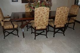 FORMAL DINING TABLE WITH 8 CHAIRS, QUALITY DECOR