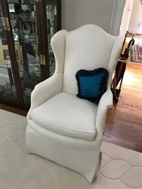 White Furniture of Mebane high back arm chairs