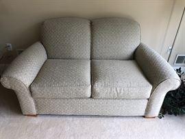 The Well Dressed House custom love seat
