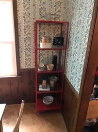 IKEA red metal shelves (2 available)