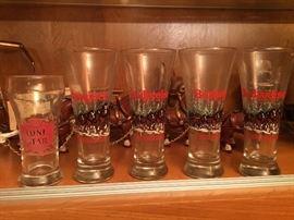 Budweiser Clydesdale Pilsner beer glasses