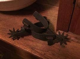 Hand crafted old spurs.