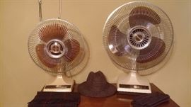 TWO VINTAGE 70'S GALAXY OSCILLATING FANS IN PERFECT CONDITION