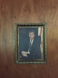 Great Portrait of President John F Kennedy.... this tells a bit of the story of the residence and it's belongings.  Fun Sale!