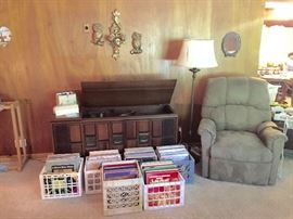 LPs, Electric Recliner, Mid-Century Stereo Console and more!
