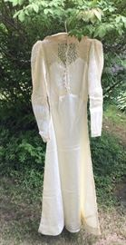 Back side of 1930s Satin Wedding Gown.  Lovely and in excellent condition!