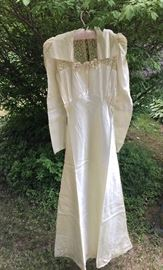 1930s Satin Wedding Gown.  Lovely and in excellent condition!