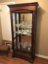 Very nice lighted curio cabinet
