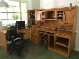Computer Desk 48 x 24 Larger section 72.5 x 65  corner 24 x24