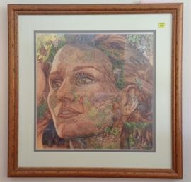"Bev Doolittle Artwork - ""The Earth is My Mother"" Pencil signed by the Artist."