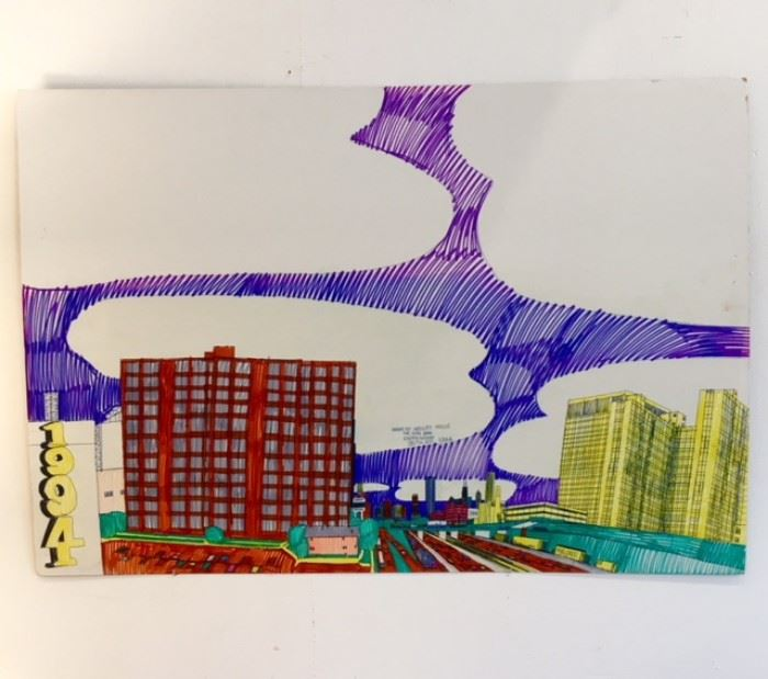 "Art work drawn by ""Dan Ryan Expressway 35TH ST"" 1994"