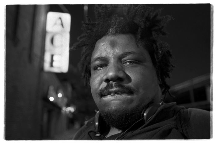 Wesley Willis black and white photo #2 of 25. Photo by Dimitre photography in the WOW DISTRICT.