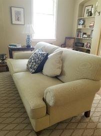 Yellow Sofa from Century, 90w x 46d x 35h (19sh)