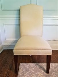 10 Restoration Hardware dining chairs, 21w x 24d x 42h (19sh)