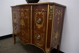 A Regency/Louis XVI Style Buffet.  Mahogany Solids.  By Karges Furniture Co. (appraised: $6,500)  For Sale: $1,600