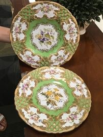 Chelsea House hand painted porcelain dish set (2).