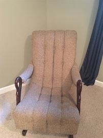 antique chair reupholstered in beautiful condition