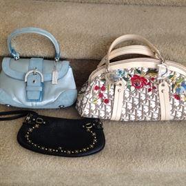 Coach and Christian Dior handbags