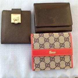 Brand new Gucci, Prada, and Ferragamo wallets