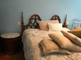 Look at the detail on the head board of this bead and the mattress is exquisite as well