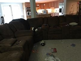 A sectional to complete your home entertainment center