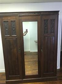 Vintage Solid wood wardrobe spacious