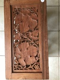 Wooden hand carved wine rack