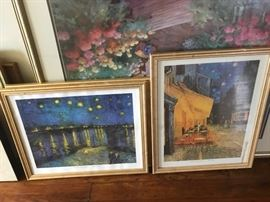 Beautiful variety of framed artwork