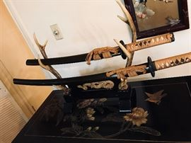 Decorative samurai swords