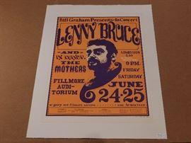 Lenny Bruce Fillmore Concert Poster   https://ctbids.com/#!/description/share/29926