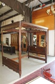 Beautiful Jacobean Style Tester Bed