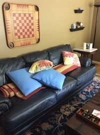 Faux leather couch.  Excellent condition.