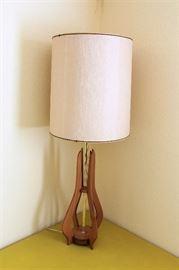 Wood base MC lamp