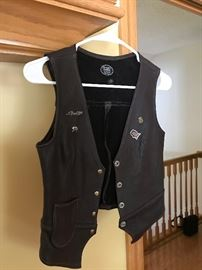 Small Harley Davidson Vest.  Pins sold separately