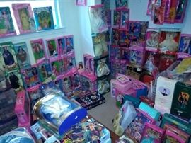 Room Full of Barbie New and Vintage Accessories and More