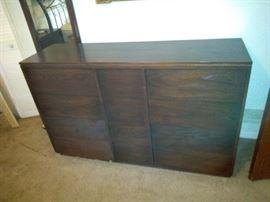 Brown Wood Dresser