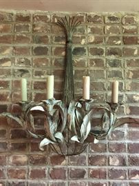 Large metal wall sconce