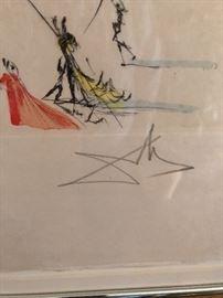Signed Dali Print
